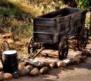 Old wooden cart stock photos