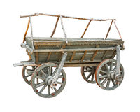 Old wooden cart cutout Stock Photo