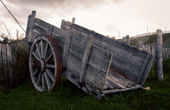 Old wooden cart Stock Photo