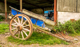 An Old Wooden Cart Stock Image