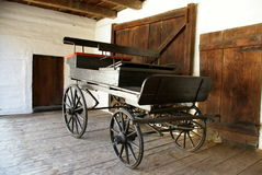 Old wooden cart Stock Photography
