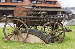 Old wooden cart Stock Photos