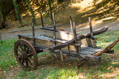 An old wooden cart for transport Stock Images