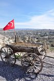 Old wooden cart in Turkey Stock Images