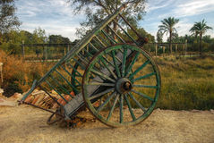 Old wooden cart - wheel Royalty Free Stock Photography