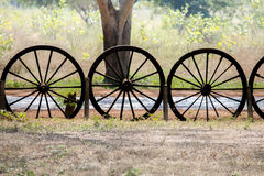Old wooden cartwheel royalty free stock photography