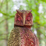 Old wooden carved owl Royalty Free Stock Images