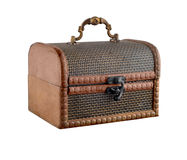 Old wooden casket. Royalty Free Stock Photography