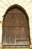 Old wooden castle door Royalty Free Stock Photos