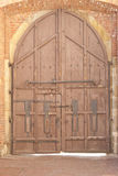 Old Wooden Castle Gate Stock Photo