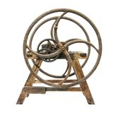 Old wooden chaff cutter. Isolated on white background Stock Photography