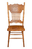 Old wooden chair. On a white background Royalty Free Stock Photos