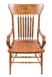 Old Wooden Chair. On a white background stock photos