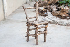 This is a old wooden chair Royalty Free Stock Photo