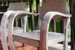 Old wooden chair on the balcony Royalty Free Stock Photography