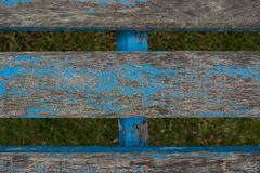 Old wooden chair planking texture. Wood slats. Stock Photography