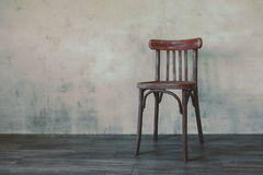 Old wooden chair Stock Images