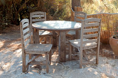 Free Old Wooden Chairs And A Table Stock Photo - 37176840