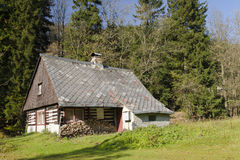 Old wooden chalet Stock Photo