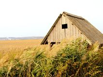 Old wooden chalet background Royalty Free Stock Photo