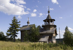 Old wooden chapel Stock Images