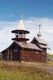 Old wooden chapel. In Russian north, Kizhi island, Lake Onega Stock Photography