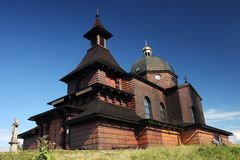 Old wooden chapel Royalty Free Stock Image
