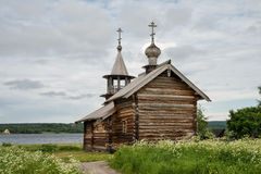 Old wooden chapel on the lake, Kizhi Stock Photography