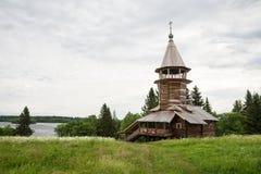 Old wooden chapel on the Onega lake, Kizhi Stock Images