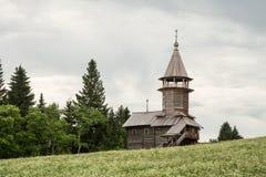 Old wooden chapel on the Onega lake, Kizhi Stock Image
