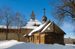 Old wooden chapel, XII century. Stock Image