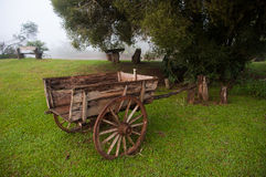 Old Wooden chariot in countryside of Misiones, Argentina Stock Photo