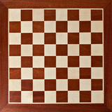 Old wooden chess board Royalty Free Stock Photo