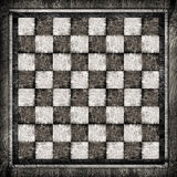 Old wooden chess board Royalty Free Stock Photography