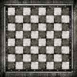 Old wooden chess board Stock Photography