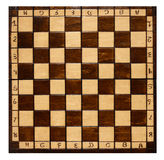 Old wooden chess board Royalty Free Stock Images
