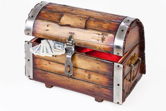 Old Wooden Chest Royalty Free Stock Images