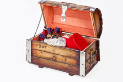 Old Wooden Chest Stock Photography