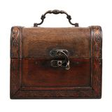 Old wooden chest Royalty Free Stock Photo