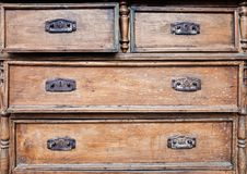 Old wooden chest of drawers Royalty Free Stock Images