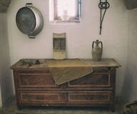 Old wooden chest of drawers. Royalty Free Stock Photos
