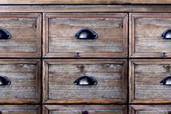 Old wooden chest of drawers. Old wooden vintage chest of drawers Royalty Free Stock Photography