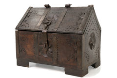 Old Wooden Chest Royalty Free Stock Photography