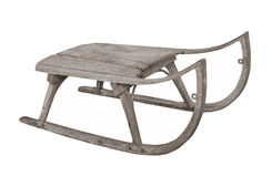 Old Wooden Child S Sled Isolated. Stock Photography