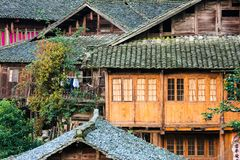 Old wooden chinese buildings Royalty Free Stock Photo