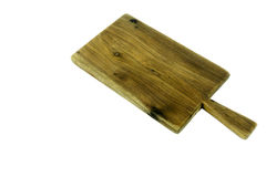 Old wooden chopping board isolated Stock Images