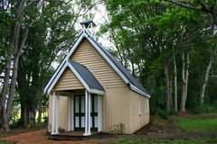 Old Wooden Church. An old wooden church in the forest Royalty Free Stock Images