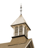 Old wooden church bell tower isolated. Stock Image