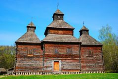 Old wooden church building Royalty Free Stock Image
