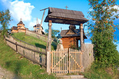 Old wooden church. In the Carpathian region. Vorokhta, Ukraine Royalty Free Stock Photography